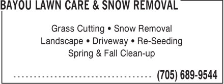 Ads Bayou Lawn Care & Snow Removal