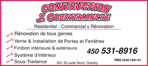Ads Construction J Courtemanche