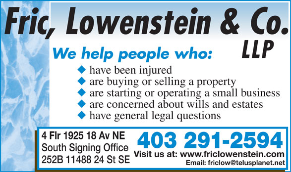 Ads Fric Lowenstein & Co LLP