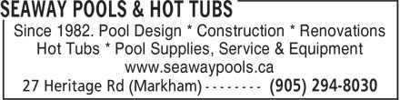 Ads Seaway Pools &amp; Hot Tubs