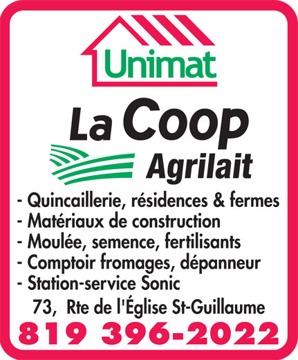 Ads La Coop Agrilait