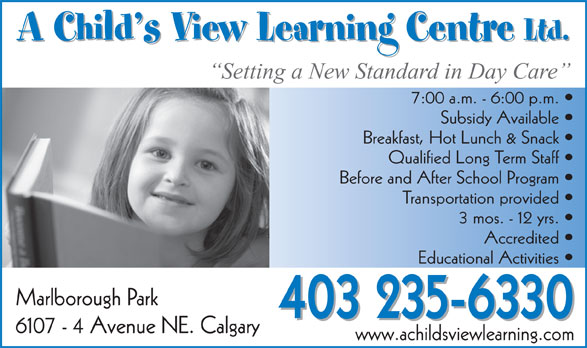 Ads A Child's View Learning Centre