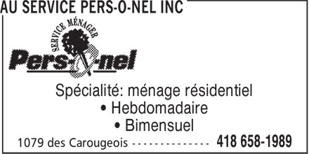 Ads Au Service Pers-O-nel Inc