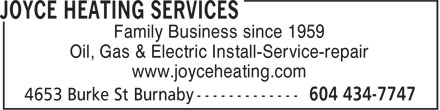 Ads Joyce Heating Services Ltd