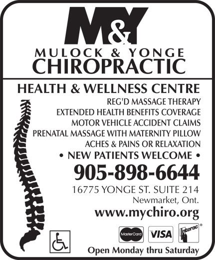 Ads Mulock & Yonge Chiropractic Health & Wellness Centre