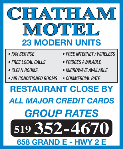 Ads Chatham Motel