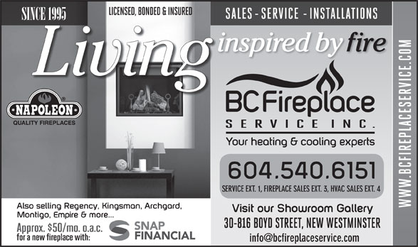 Ads B C Fireplace Service Inc