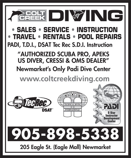 Ads Colt Creek Diving