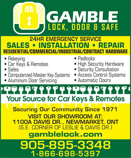Ads Gamble Lock Door & Safe Inc