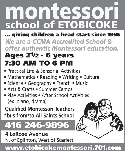 Ads Montessori School Of Etobicoke