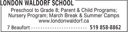 Ads London Waldorf School