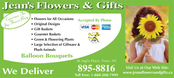 Ads Jean's Flowers & Gifts
