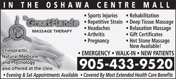 Ads In Greathands Chiropractic Rehab & Wellness