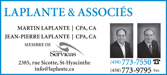 Ads Laplante & Associes Comptables Agrees Inc