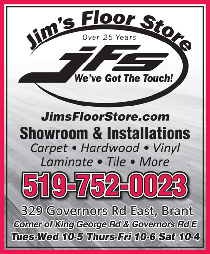 Ads Jim's Floor Store