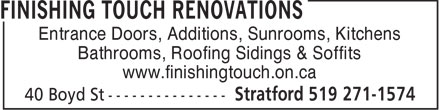 Ads Finishing Touch Windows & Renovations