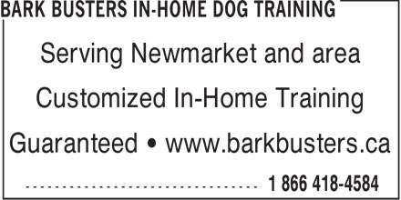 Ads Bark Busters In-Home Dog Training
