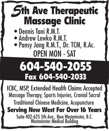 Ads 5th Ave Therapeutic Massage Clinic
