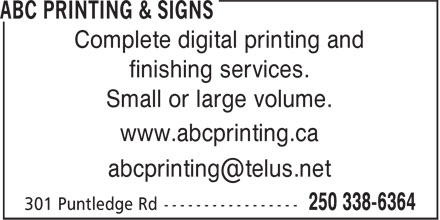 Ads ABC Printing & Signs