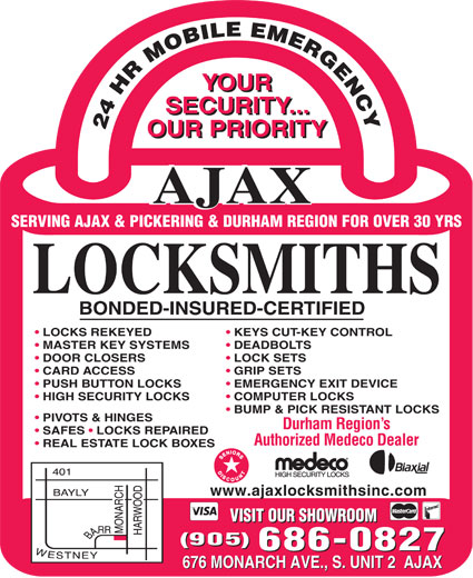 Ads Ajax Locksmiths Inc