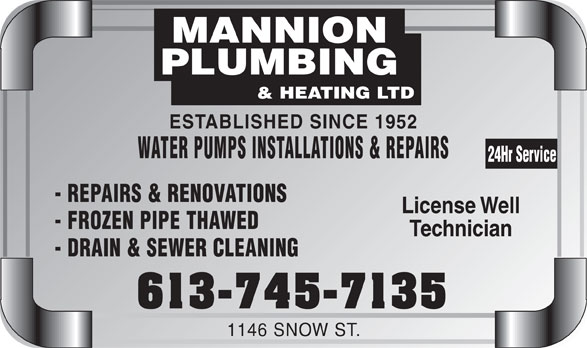 Ads Mannion Plumbing & Heating Ltd