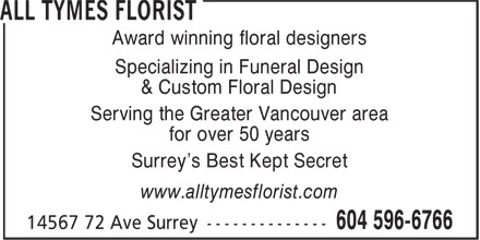 Ads All Tymes Florist