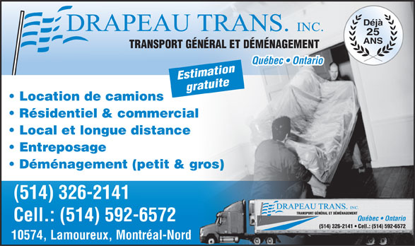 Ads Dmnagement Drapeau Transport