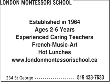 Ads London Montessori School