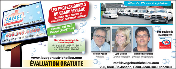 Ads Lavage Du Haut-Richelieu Inc