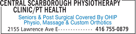 Ads Central Scarborough Physiotherapy Clinic