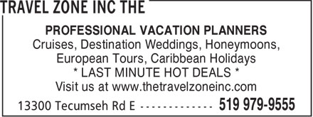 Ads The Travel Zone Inc