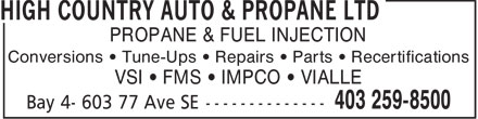 Ads High Country Auto & Propane Ltd