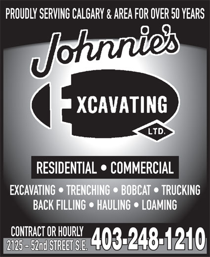 Ads Johnnie's Excavating Ltd