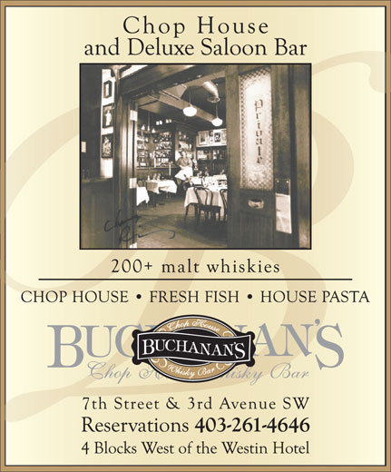 Ads Buchanan's Restaurant Ltd