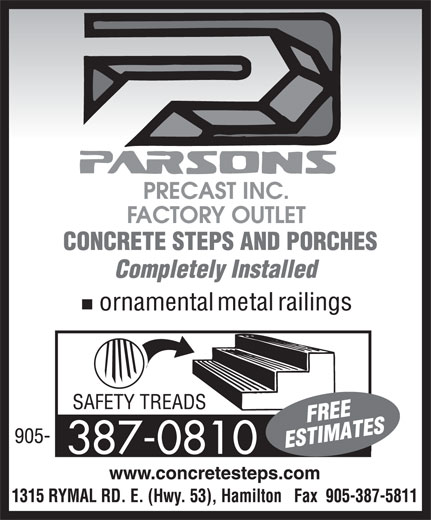 Ads Parsons Precast Inc