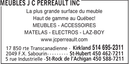 Ads Meubles J C Perreault Inc