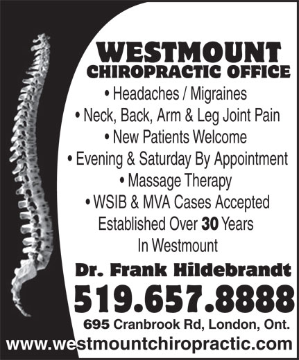 Ads Westmount Chiropractic Office