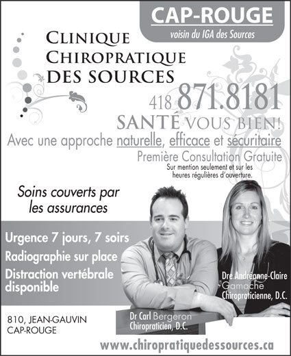 Ads Clinique Chiropratique Des Sources