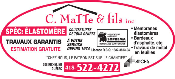Ads Matte C &amp; Fils Inc