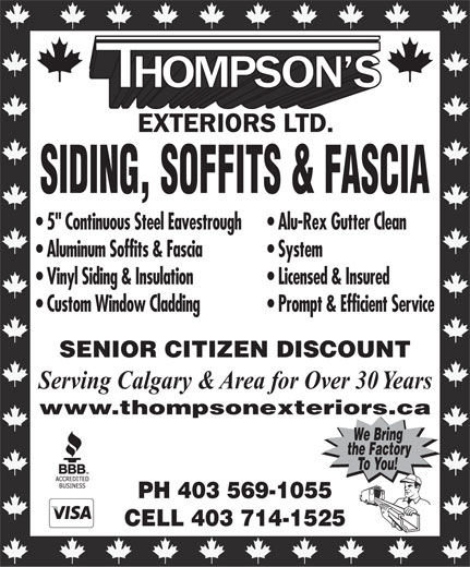 Ads Thompson's Exteriors Ltd