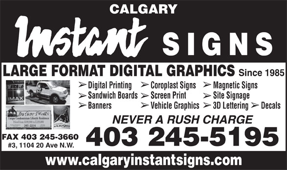 Ads Calgary Instant Signs