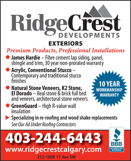 Ads RidgeCrest Developments