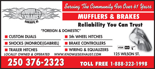 Ads Knowles Exhaust Specialties Ltd
