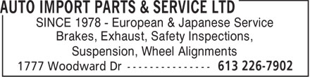 Ads Auto Import Parts & Service Ltd