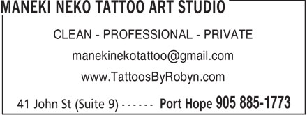 Ads Maneki Neko Tattoo Art Studio