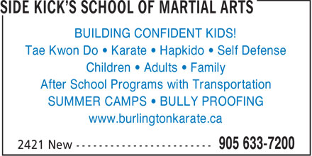 Ads Side Kick's School Of Martial Arts