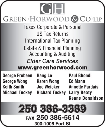 Ads Green Horwood & Co LLP