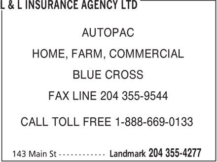 Ads L & L Insurance Agency Ltd
