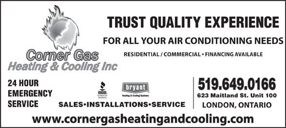 Ads Corner Gas Heating & Cooling Inc
