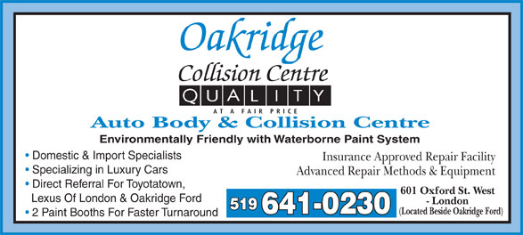 Ads Oakridge Collision Centre